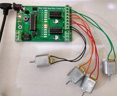 ATtiny based bidirectional motor control using - Electronics Infoline Robotics Projects, Science Projects, Robotics For Beginners, Electronic News, Development Board, Stepper Motor, Electronics Projects, Arduino, Robots