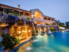 $38.8 Million Stunning Mansion in Los Angeles, California - Waterfall