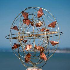 Wind Sculptures, Book Sculpture, Abstract Sculpture, Garden Sculptures, Kinetic Wind Art, Sparrow Art, Mother Christmas Gifts, Driftwood Sculpture, Copper Art