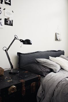 (via Inspiration for Bedroom Decor | Babble) http://www.babble.com/home/10-bedside-tables-solutions/#an-old-trunk