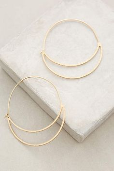 Crescent Moon Hoops - anthropologie.com