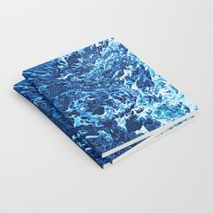 Canagawa Notebook by Fimbis.   #abstractart #blue #abstract #fashion #style #journal #writing #water #writer