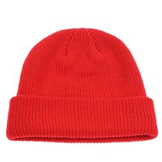 fb59d797350 Classic Men s Warm Winter Hats Acrylic Knit Cuff Beanie Cap Daily Beanie Hat  - Red - CV12MX88E0E