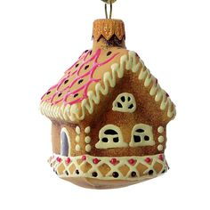 """Cookie - House"" Glass Christmas Ornament."
