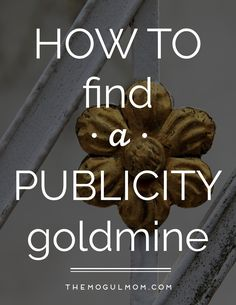 How to Find a Publicity Goldmine