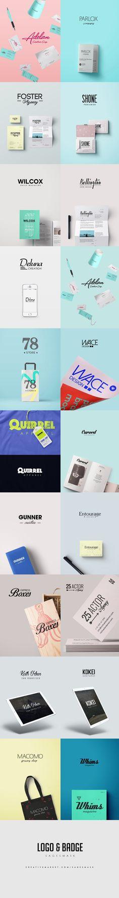 Minimal Logos by sagesmask on @creativemarket
