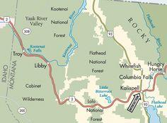 Near Whitefish Montana