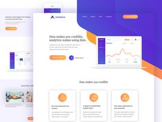 Hi guys, I decided to share with you a another experimental landing page for Analytica Dashboard.  FREE PSD Download   Full pixel view of landing page  Get more work on My Behance Profile  Press L ...