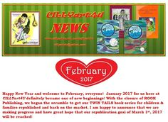 CILLYart4u NEWS - FEB 2017 has just arrived! Sign up today to be the first to read the latest at CILLYart4U with original CILLYart coloring+ for kiddos under MY UPDATES:  cillyart4u.wix.com/cillyart4u