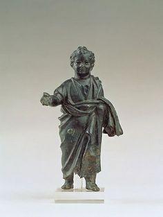 A Roman (Julio-Claudian) Bronze Child Clad in a Toga #TuscanyAgriturismoGiratola