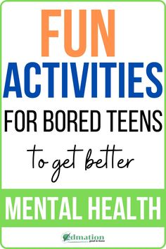 Feel like everything is boring? Looking for doing the best activities & hobbies to make you feel better? try this Fun activity for bored teens to get better mental health & that will helps to reduce your anxiety at home. Life, in general, has plenty of challenges. Interested? Check this out & enjoy it #hobbies #activities #mentalhealth #anxiety #teens Mental Health Activities, Good Mental Health, Activities For Kids, Health And Fitness Tips, Health Tips, Better Life, Feel Better, Low Mood, Hobbies To Try