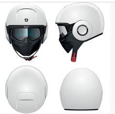 sharkraw helmet blank all white