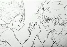 Gon and Killua Anime Drawings Sketches, Anime Sketch, Kawaii Drawings, Killua, Hisoka, Hunter Anime, Hunter X Hunter, Manga Art, Anime Art