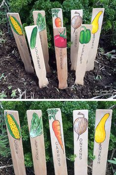 Hand Painted Garden Signs Plant Markers Handmade Garden Markers Plant Labels Vegetable Signs Gift for Gardener Mothers Day Gift