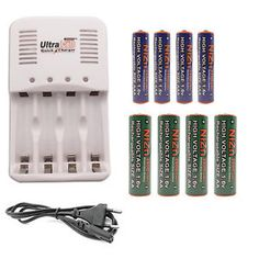 4 AAA + 4 AA NiZn 1150mWh 2800mWh Battery + Rechargeable Charger UltraCell EU   eBay