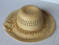 #women hat women straw hat size L (58) natural palm straw made in Guatemala  (008) withing our EBAY store at  http://stores.ebay.com/esquirestore