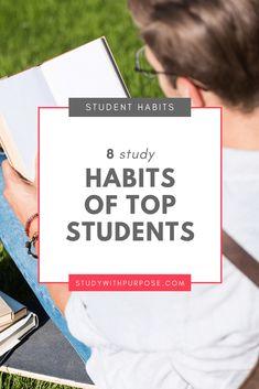 Education Discover 8 Study Habits of Top Students 8 key study habits of top students Good Study Habits, Student Studying, Student Life, College Students, College School, College Hacks, High School, Study Techniques, Teaching Techniques
