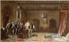 Assassinat du duc de Guise Delaroche Paul (1797-1856) ,  peintre, sculpteur COTE CLICHÉ03-003461FONDSPeinturesPÉRIODE 19e siècle Europe (période) - période contemporaine de 1789 à 1914 LOCALISATIONBlois, château, musée des Beaux-Arts  CRÉDITPhoto (C) RMN-Grand Palais / Gérard BlotMOTS CLÉS assassinat , Henri Ier de Lorraine (1549-1588) le Balafré (dit) , scène historique , Troubadour (art) , Troubadour (art) RÉSOLUTION--Réunion des Musées Nationaux-Grand Palais - Search Result