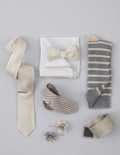 The perfect ties and accessories for a wedding, starting at $8 at www.TheTieBar.com