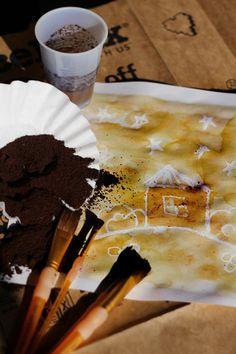 In this activity you'll use coffee...to paint! It's a wonderful way to provide your child with a hands-on experience with natural dyes.
