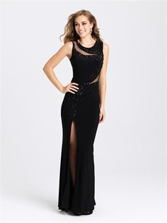 Shop high-neck illusion long prom dresses at PromGirl. Sheer-back formal dresses by Madison James, sleeveless designer evening dresses, and tight prom dresses with beaded details and side slits. Cut Out Prom Dresses, Prom Dresses 2016, Simple Dresses, Beautiful Dresses, Formal Dresses, Long Dresses, Formal Wear, Dress Long, Party Dresses