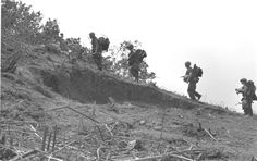 DEFENSE DEPT PHOTO (MARINE CORPS) A192845  The A Shau Valley was one of the many contested areas in South Vietnam.  When the Marines built FSB Cunningham in support of Operation Dewey Canyon, the NVA wasted no time in trying to destroy it.  Read the details in my newest blog article.  Click below.