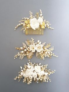 This beautiful handmade bridal hair comb made with pretty crystal elements, hand… - Haarschmuck Wedding Hair Flowers, Hair Comb Wedding, Wedding Hair Pieces, Wedding Dresses, Wedding Shoes, Wedding Favors, Wedding Invitations, Bridal Hair Pins, Bridal Comb
