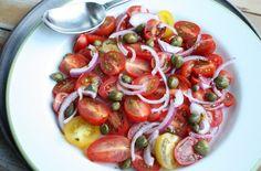 Tomatensalade met kappertjes en balsamico - Francesca Kookt