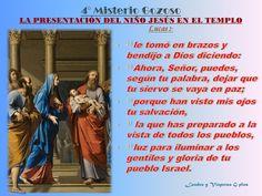 4°Misterio Gozoso Presentación del niño Jesús en el templo Lc 2:22-39 #OctubreMesDelRosario #SantoRosario @MaluHdez