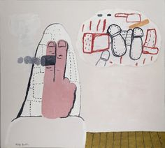 Philip Guston, Daydreams   1970 Oil on Linen 180.0 x 203.5 cm
