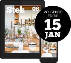 Stek Magazine nieuwste editie cover Om, Apps, Magazine, Lifestyle, Deco, Cover, Music, Design, Musica