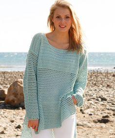 Vintage Knitting, Vintage Crochet, Drops Design, Summer Sweaters, Sweaters For Women, Crochet Blouse, Knit Crochet, Lace Sweater, Easy Crochet Patterns
