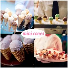 mini ice cream cones
