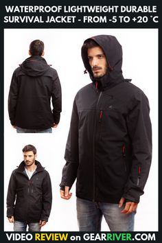 Spiral Structure Lightweight Mans Jacket with Hood Long Sleeved Zippered Outwear