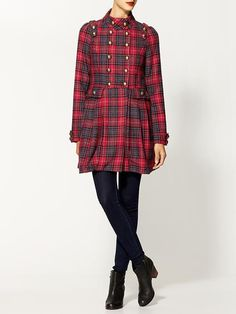 plaid coat $139 <3 the buttons!