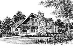 Houseplans.com Front Elevation Plan #12-107