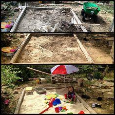 Redid the sandbox for babybrother. :)