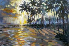 Sunset on the water by Rick Reinert