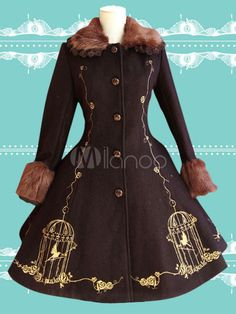 Gorgeous Uniform Cloth Lace Lolita Outercoats For Women