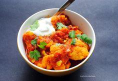 Pomidorowe curry z kalafiora