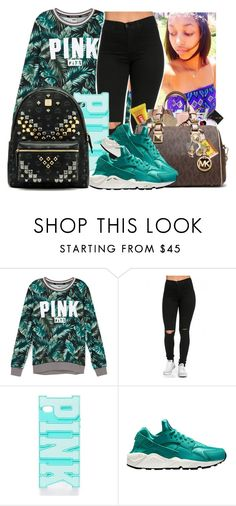 """""""Untitled #903"""" by chynaloggins ❤ liked on Polyvore featuring Victoria's Secret, NIKE, MCM, women's clothing, women, female, woman, misses and juniors"""