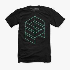 73bd83de6fc8cd Stacked T-Shirt Black Polo T Shirt, Design Kaos, Simple Shirts, Simple