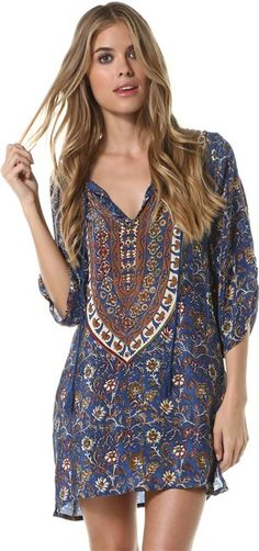 TOLANI SASHA DENIM PRINTED TUNIC > Women's Styles > Other Looks > Tunics | Swell.com