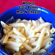 The Patriotic Pam...: 12 Weeks of Mac N Cheese - Week 2 (Easy Penne Mac N Cheese)