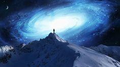 artwork fantasy art mountain galaxy men concept art stars sky wallpaper and background jpg 335 Trippy, Artwork Fantasy, Fantasy Art, Cosmos, Wallpaper Collection, Mountain Wallpaper, Conscience, Interstellar, Galaxy Wallpaper