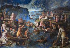 Antonio Tempesta Pearl Diving in India Italy (1610)