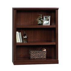 "Beachcrest Home Bowerbank 47.5"" H x 53.13"" W Standard Bookcase | Wayfair Sauder Bookcase, 3 Shelf Bookcase, Etagere Bookcase, Wood Shelves, Bookcases, Large Shelves, Open Shelving, Adjustable Shelving, Cherry Bookcase"