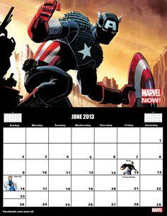 ✭ marvel 2013 calendar - june