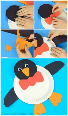Supplies Needed: Paper plate Orange, black, and red card stock paper Glue Googly eyes Scissors Directions: Start by cutting out the penguins features (head, feet, wings, beak, etc) then glue them onto the paper plate. Easy peasy for a Christmas craft! Make sure to follow Crafty Morning on Facebook, Pinterest, and Instagram or subscribe to …