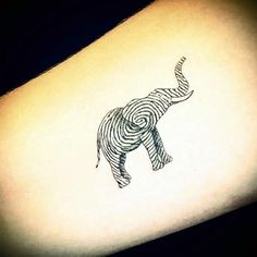 Lovely and Cute Elephant Tattoo Design (22)